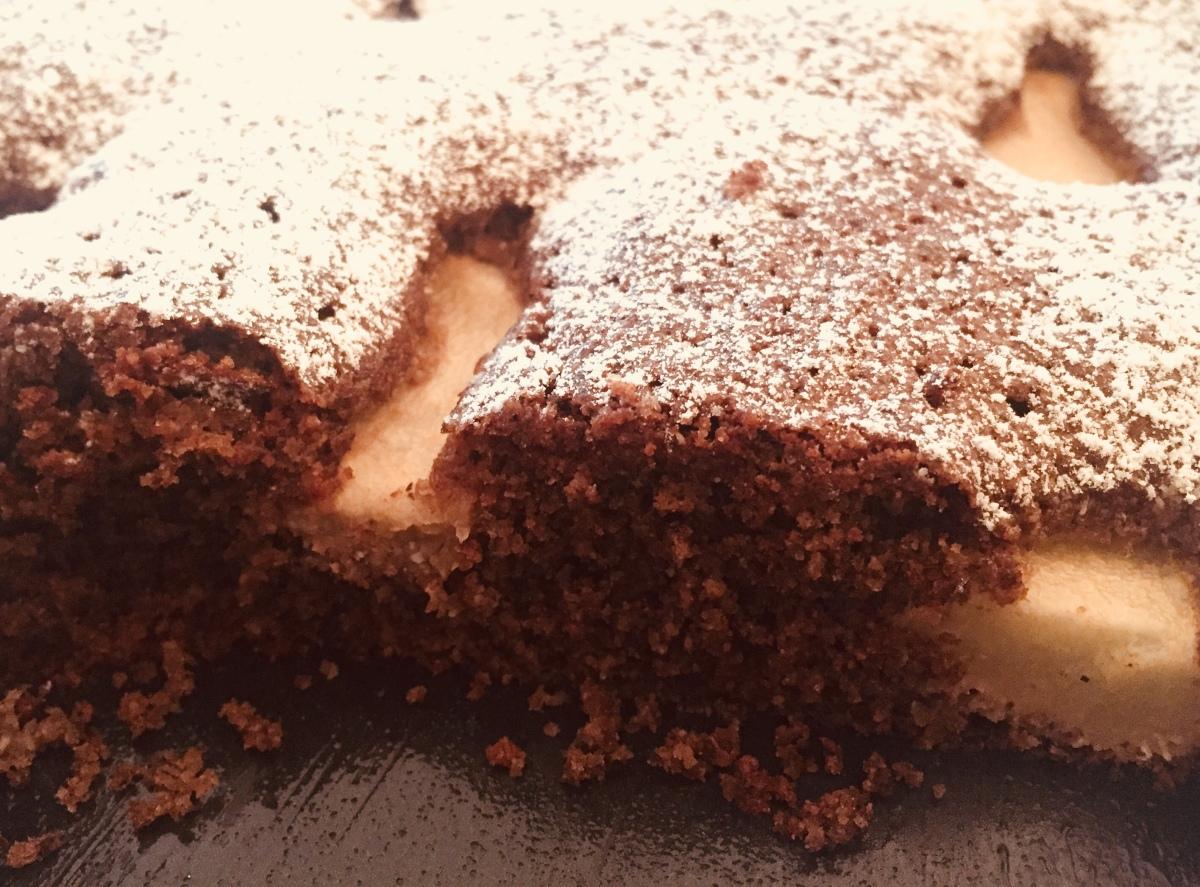 Hadn-Birnenkuchen vom Blech(glutenfrei)